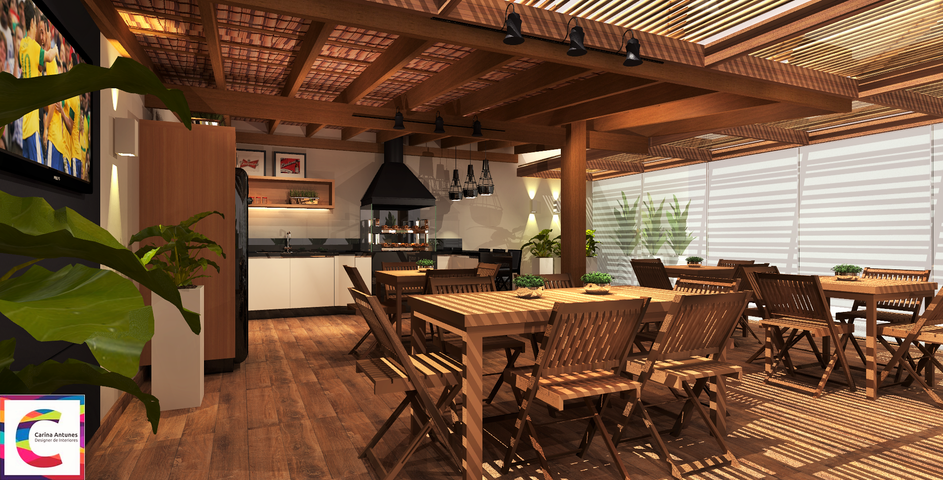 Área Gourmet - Condomínio Bairro Campestre