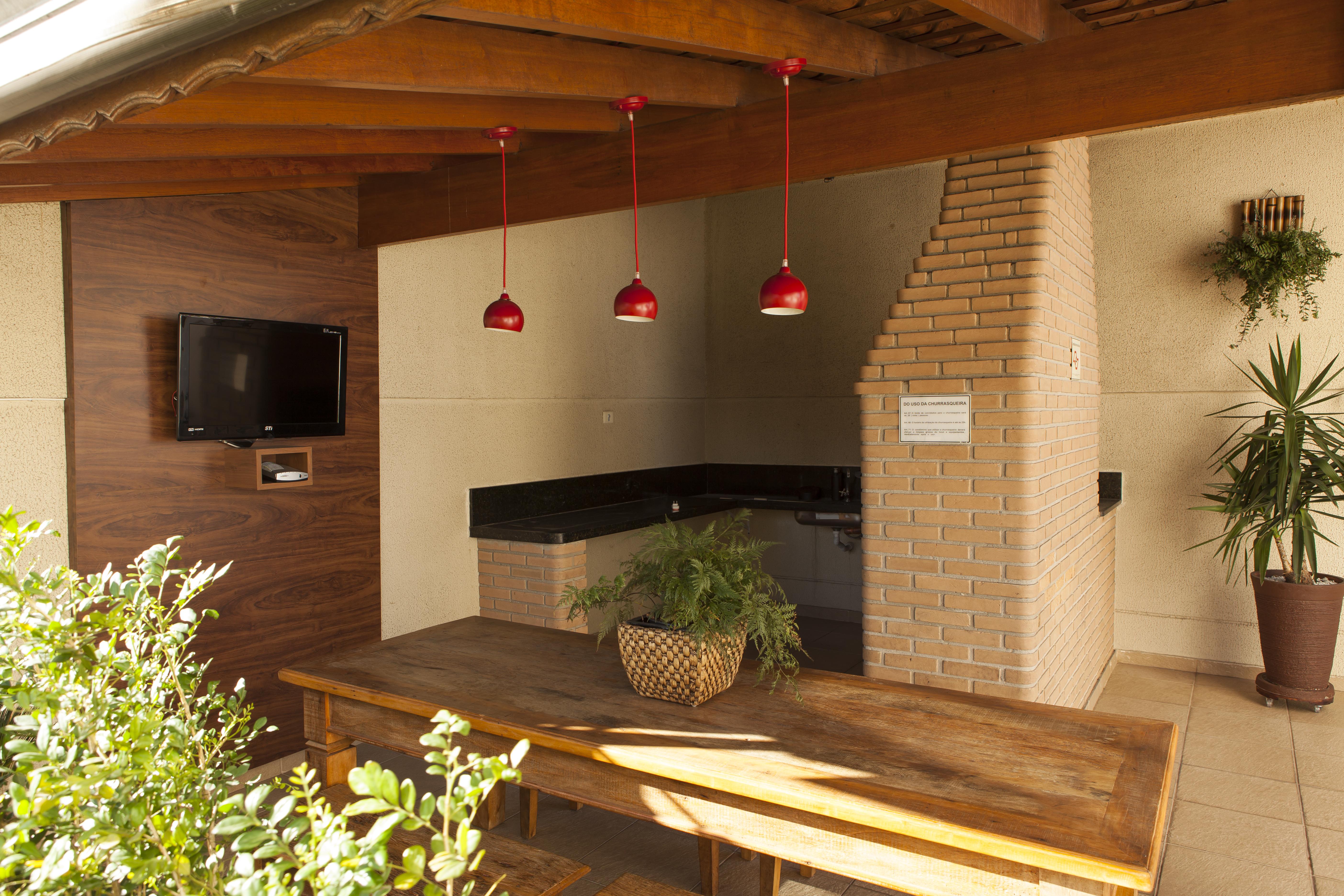 Projeto Hall Social, Churrasqueira e Deck com Pergolado